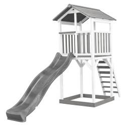 Beach Tower Speeltoren Grijs/wit - Grijze Glijbaan