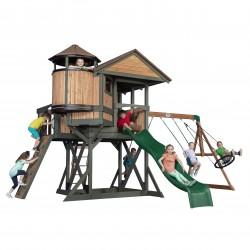 Eagles Nest Elite Speeltoren met Schommels, Glijbaan en uitkijktoren