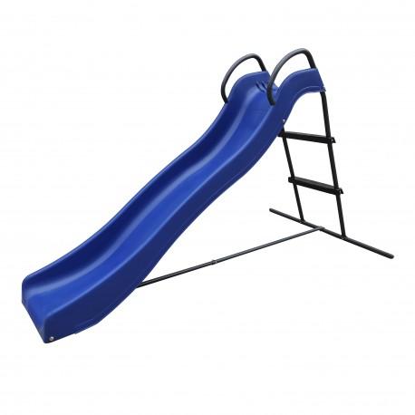 Vrijstaande Glijbaan met wateraansluiting 180cm Blauw/antraciet